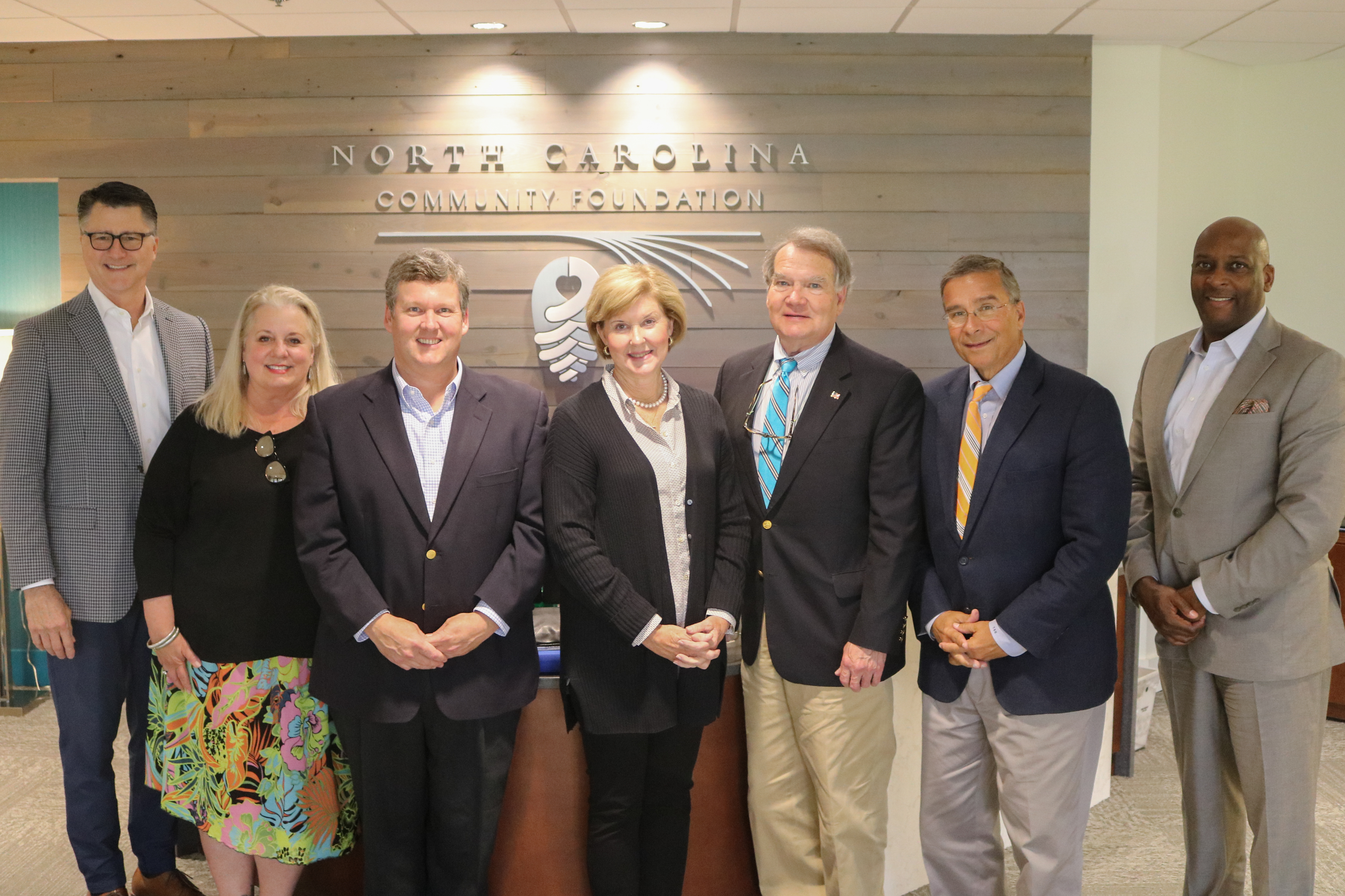 Pictured (left to right) are members of the Affiliate Impact Committee: Bob Knornegay, Lucia Peel, Al Wheless, Jan Hayes, John Bratton, Tyler Harris and Juan Austin. Not pictured are committee members James Narron, Jamilla Hawkins and Michael Cooper.