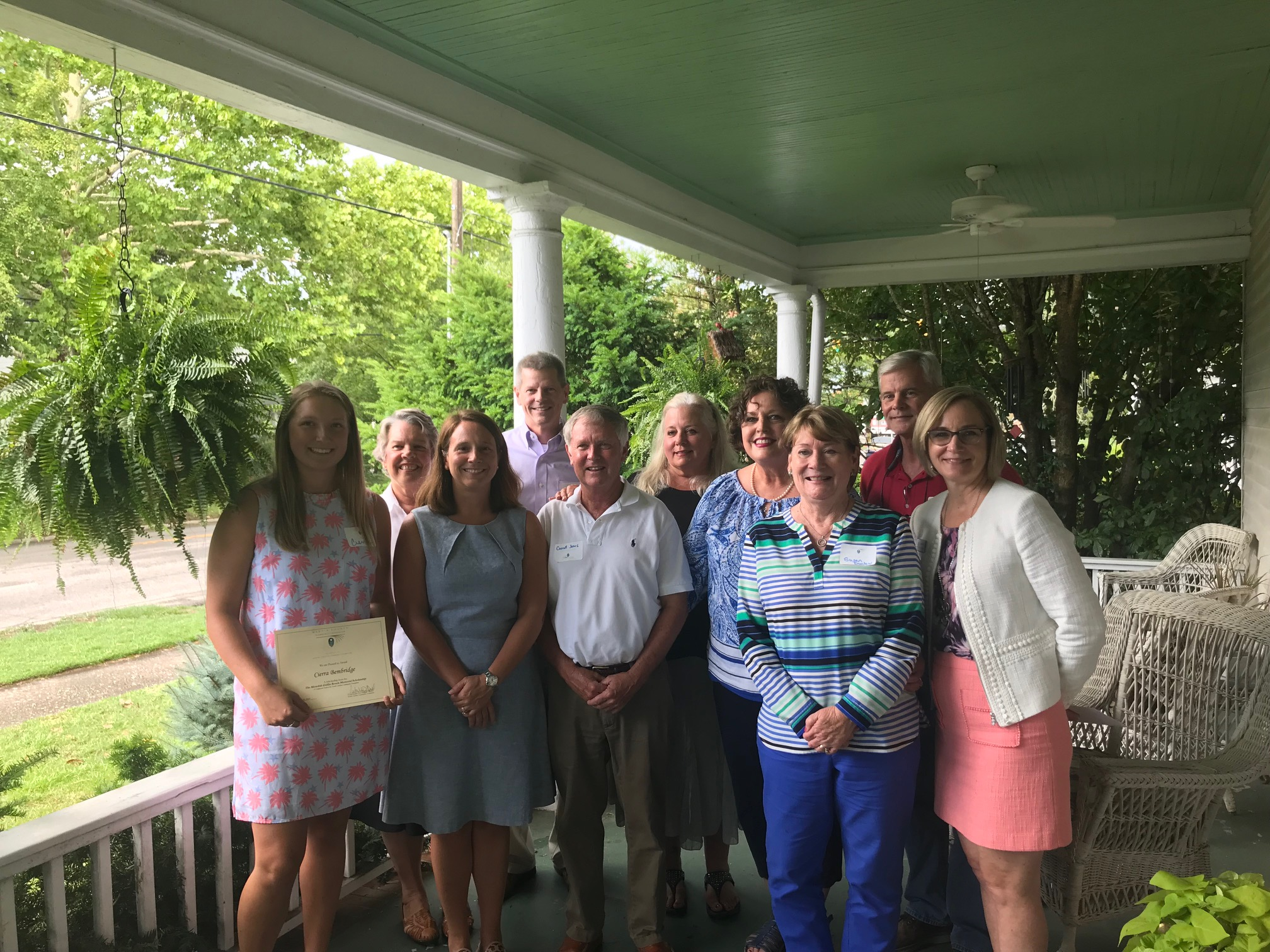 Pictured are members of the board of advisors of the Martin County Community Foundation with select grant and scholarship recipients at the county's annual award ceremony.