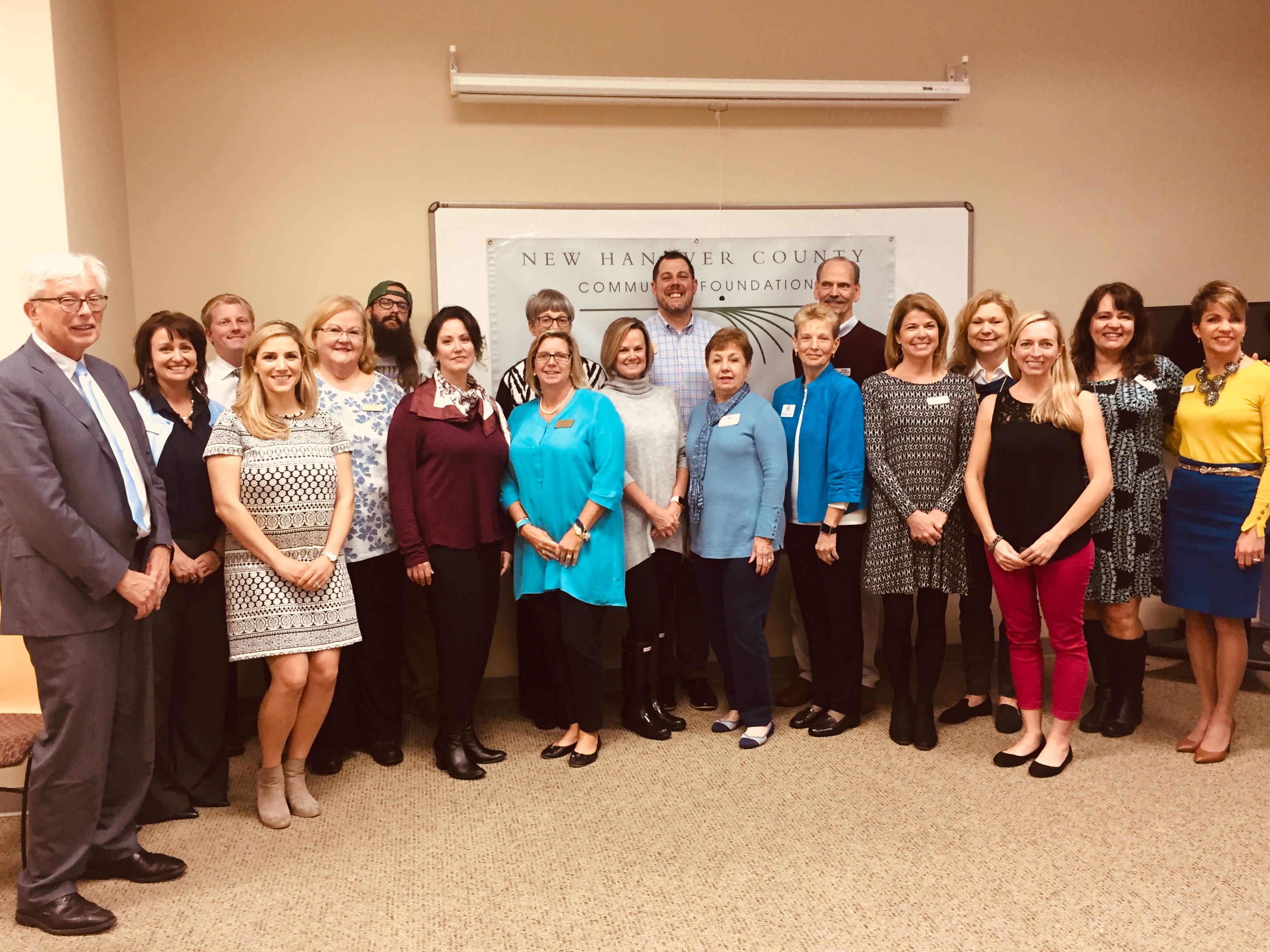 New Hanover County Community Foundation board members and grantee representatives gather for a photo at this year's grant awards ceremony where $47,000 in local grants were awarded.