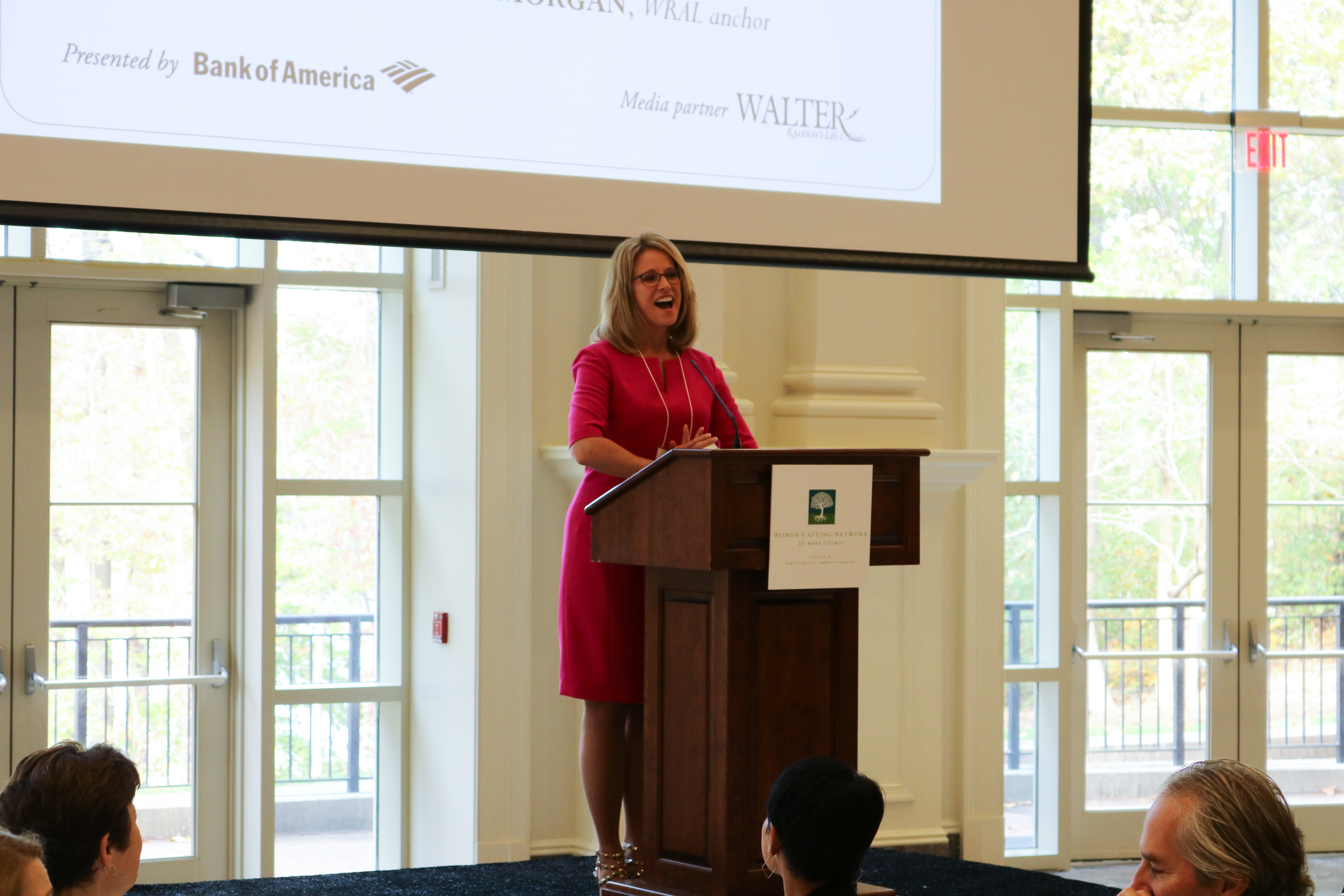 WRAL's Debra Morgan speaks at the 12th annual Women's Giving Network of Wake County Impact Luncheon, congratulating WGN members on the good their giving has done in the community.