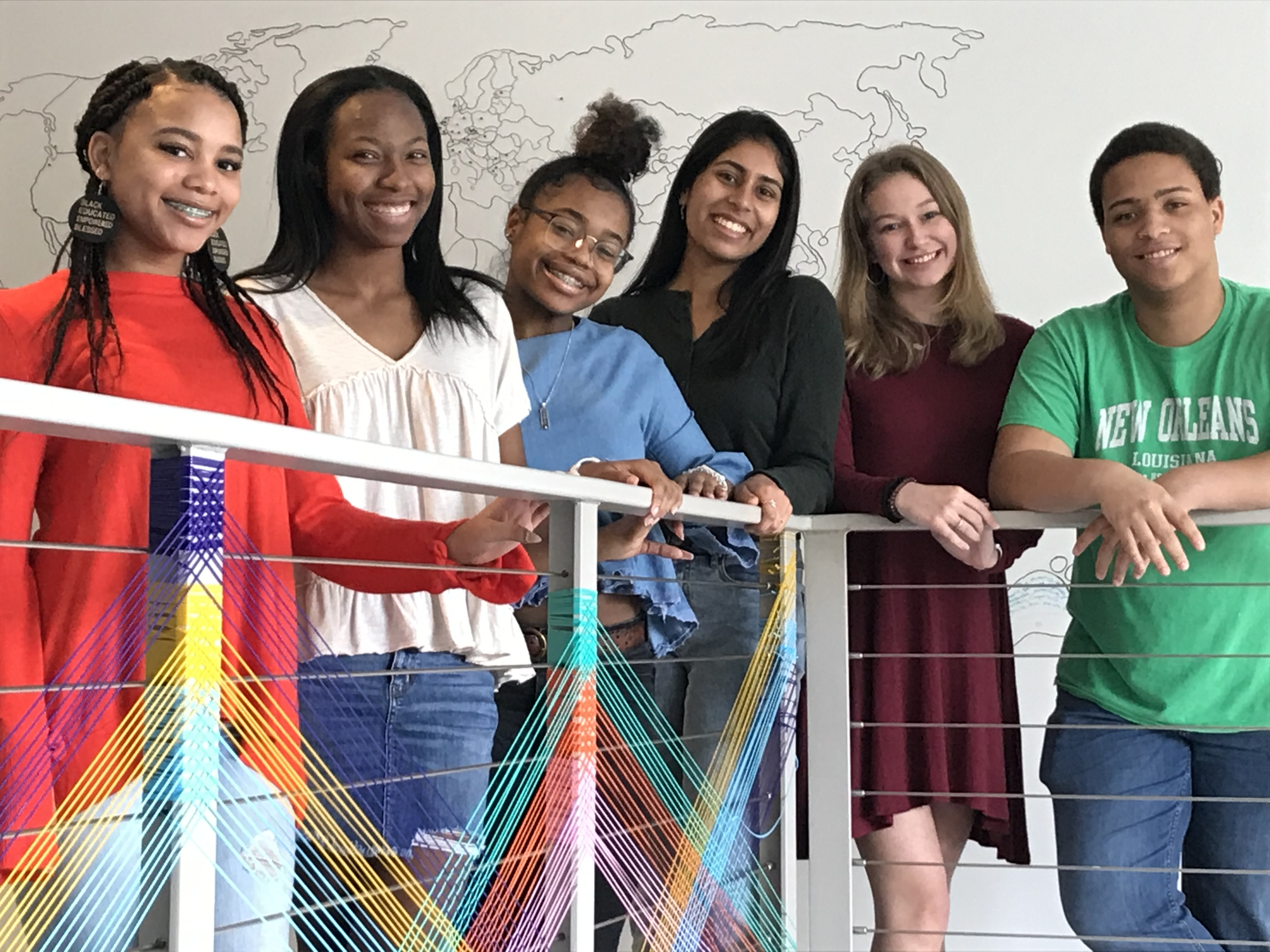 Pictured (left to right) are members of the Raleigh Charter High School Freedom Struggle Committee: Sammi Tucker, Allison Jemerson, Ny Williams, Saadhvi Mamidi, Kelly Blackman and Richie Bryant.