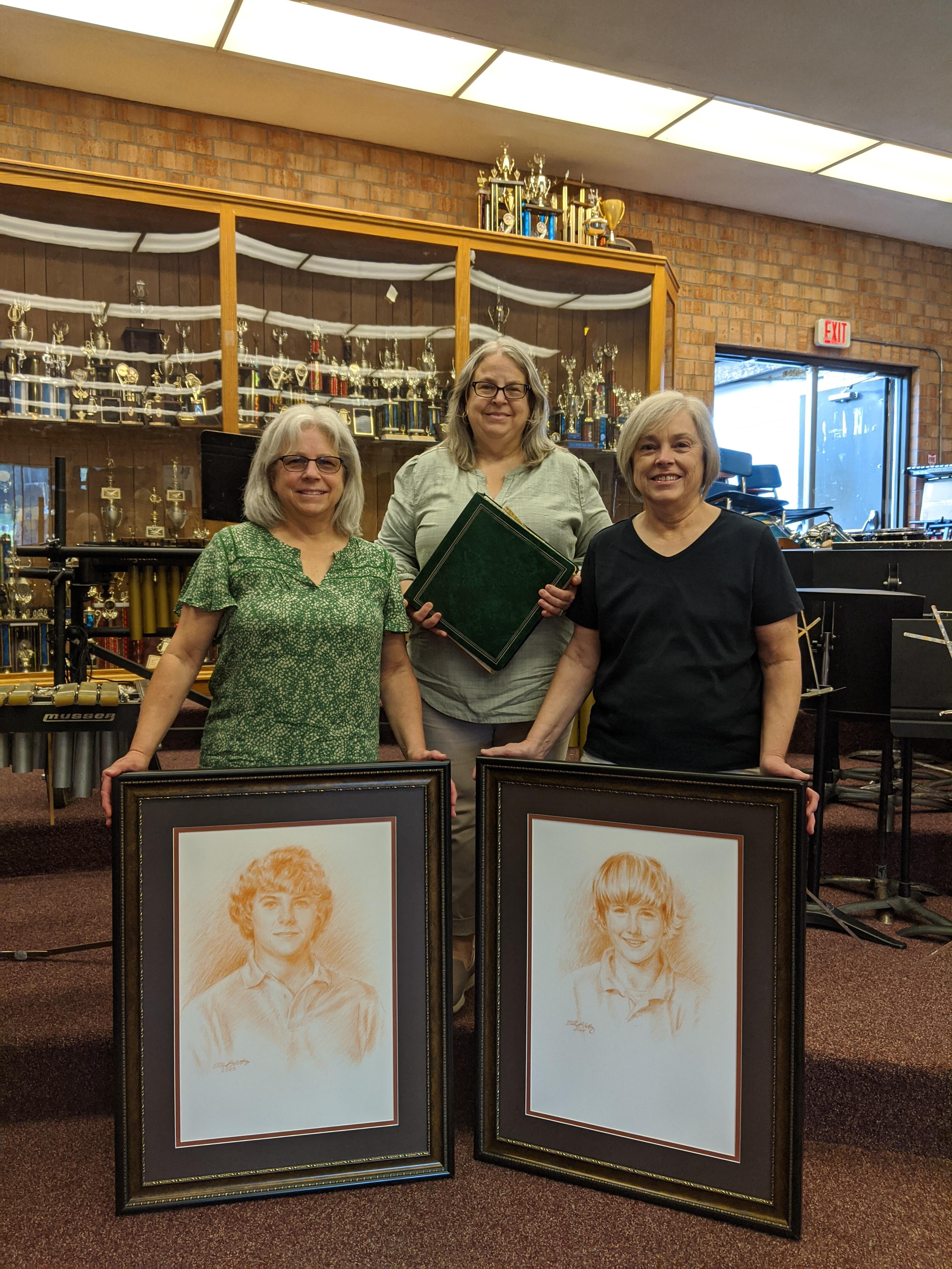 Jan Pennington, Patti Freemon and Pam Phillips share portraits of Bill and Mickey Bunn.