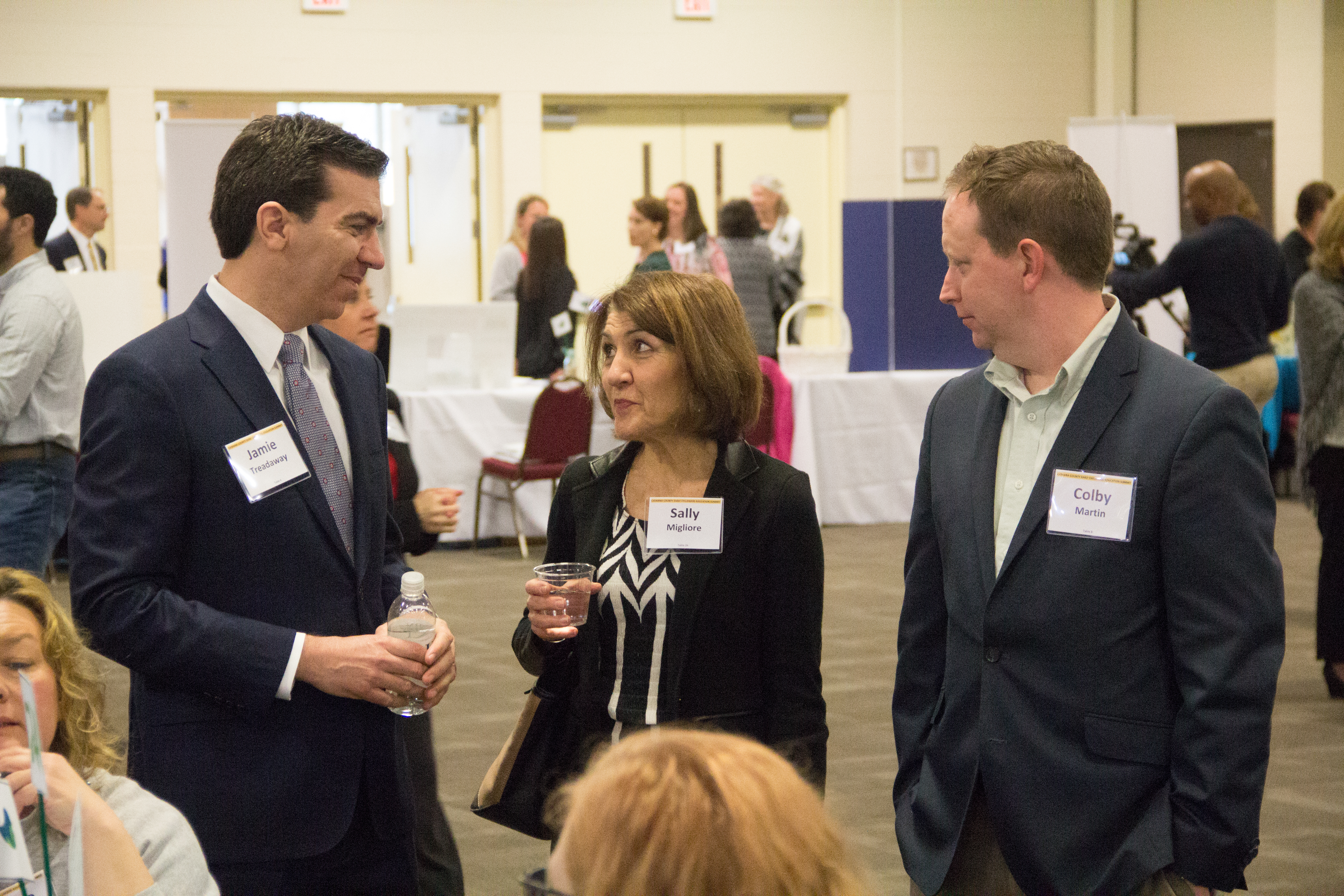Pictured (left to right) are: Jamie Treadaway, Sally Migliore and Colby Martin at the Catawba County Early Childhood Education Summit.