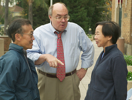 Joe talking with constituents