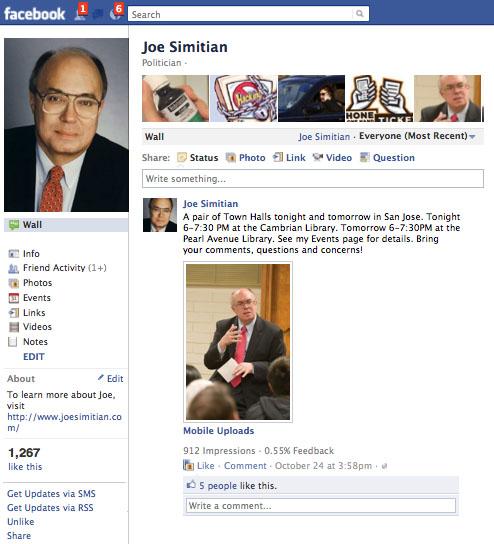 Joe's Facebook page