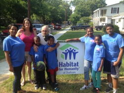 Habitat home owners and North East Central Durham neighbors
