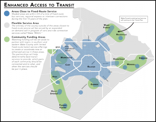 Community Funding Areas Program - Wake Transit Plan Map