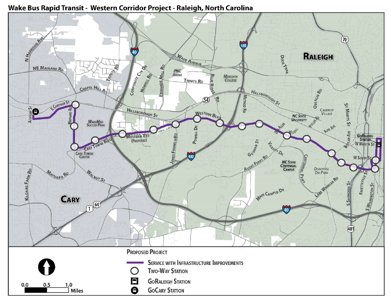 map of locally preferred alternative