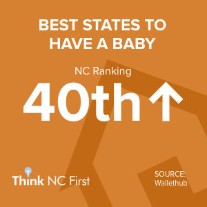 NC ranks 40th Best Place to Have a Baby