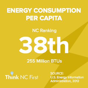 NC Ranks 38th in Energy Consumption Per Capita