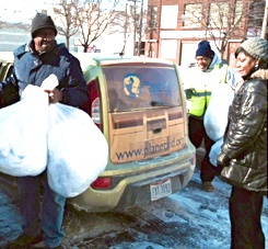 Donating to Planet Aid during Polar Vortex