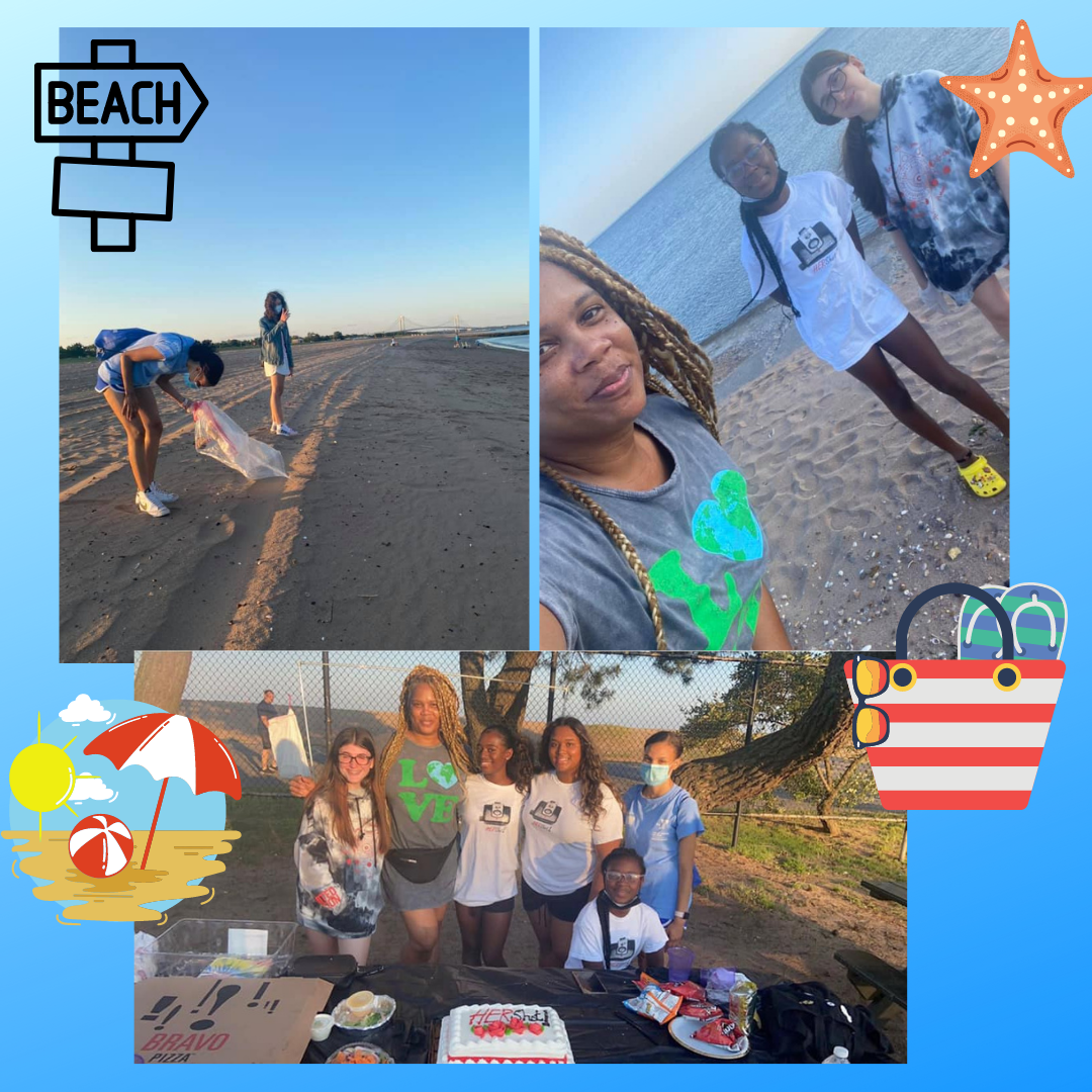 HerShot beach clean-up and party