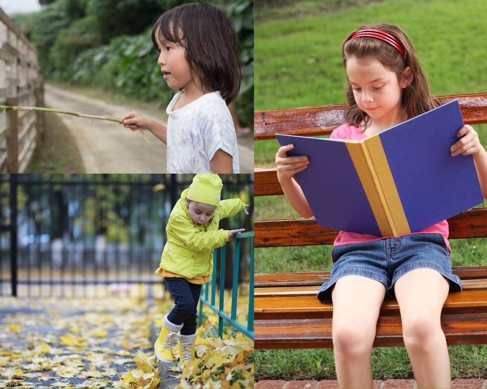 Children outside enjoying nature