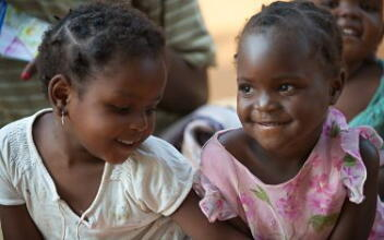 Two pre-schoolers in Mozambique