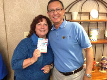 Planet Aid's Abdi Erazouki with the $25 gift card winner!
