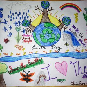 NY olivia b  Planet Aid Earth Day Art Contest