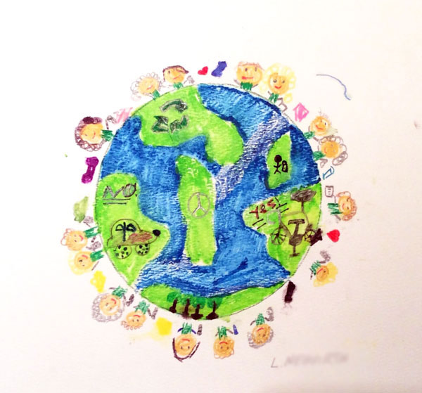 libby n michigan planet aid earth day art contest