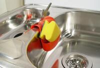 Dual-basin kitchen sink