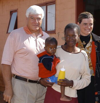 J&J CEO and Chairman of the Board William C. Weldon visits the TCE program in South Africa