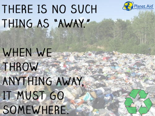 inspiration, quotes, trash, planet aid