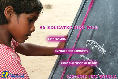 inspiration, quotes, girl, education, planet aid