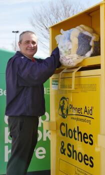 clothing industry, fast fashion, planet aid, bins