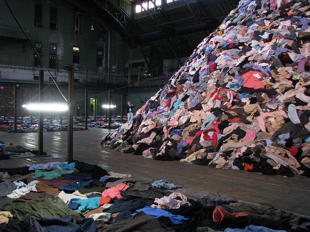 clothes, thrown away, planet aid, textiles, recycle
