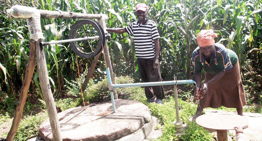 using a new well and pump for irrigation