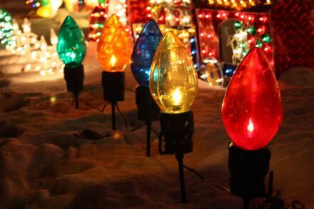 Planet Aid, christmas, lights, LED