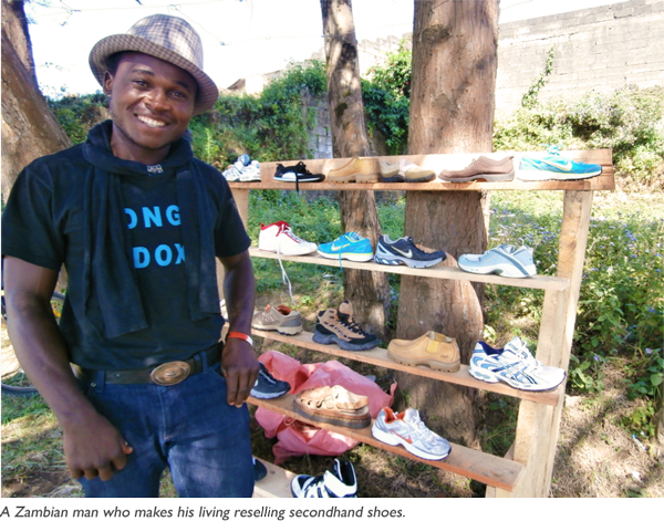 donating and reselling secondhand shoes