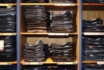 jeans, shelves, cotton, pollution, planet aid
