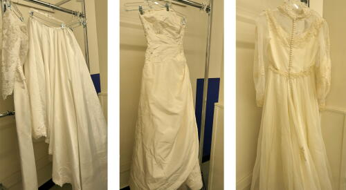 wedding, wedding dresses, dress, thrift, thrift store, thrift center, planet aid