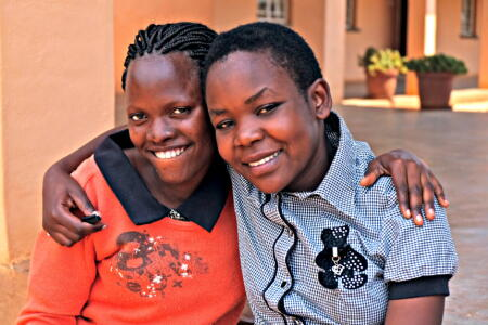 Charity (left) and Temwa (right) are first year students at Dowa Teacher Training College in Malawi