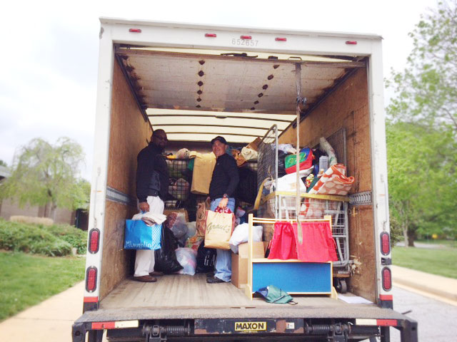 Planet Aid team helps collect clothes and shoes