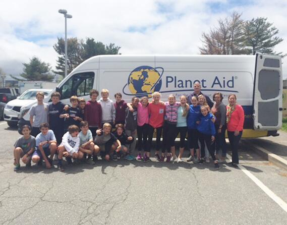 Nock Middle School, Massachusetts, Planet Aid, shoe drive