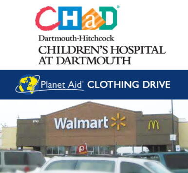 clothing drive with Planet Aid to benefit CHAD