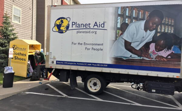 college, university of rochester, new york, recycle, planet aid, local