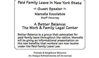 Ridgewood Democratic Club 37B - Paid Family Leave in NY