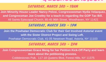 Queens Dems Weekend of Action