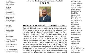 JFK Regular Democratic Club May Meeting
