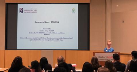 Dr. Haley presents ATHENA at LAN 2018.