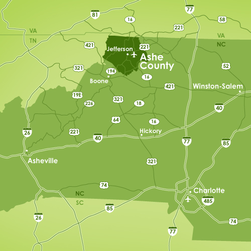 Ashe County Map