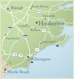 Map of Hookerton, North Carolina