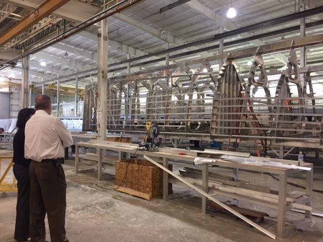 Keel Laying event at US Workboats in Hubert, NC.