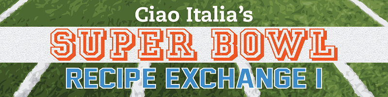 Super Bowl recipe exchange banner