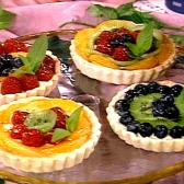 Variety of mini fruit tarts