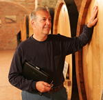 Tony and wine barrel