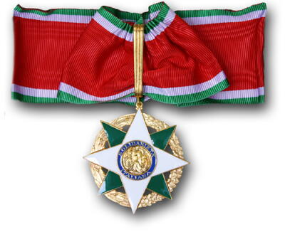 The medallion Mary Ann received upon enter Ordine della Stella d'Italia
