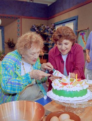 Mary ann esposito and julia child