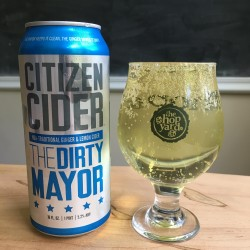 Citizen Cider The Dirty Mayor in The Hop Yard glass